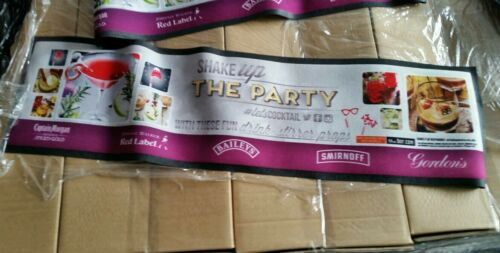 Joblot 25 x Shake up the party bar runners new mixed branded mat