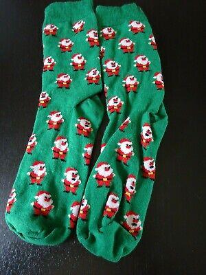 2019 Moda ** Babbo Natale Adulto Verde Calze Di Natale **-mostra Il Titolo Originale 2019 Nuovo Stile Di Moda Online