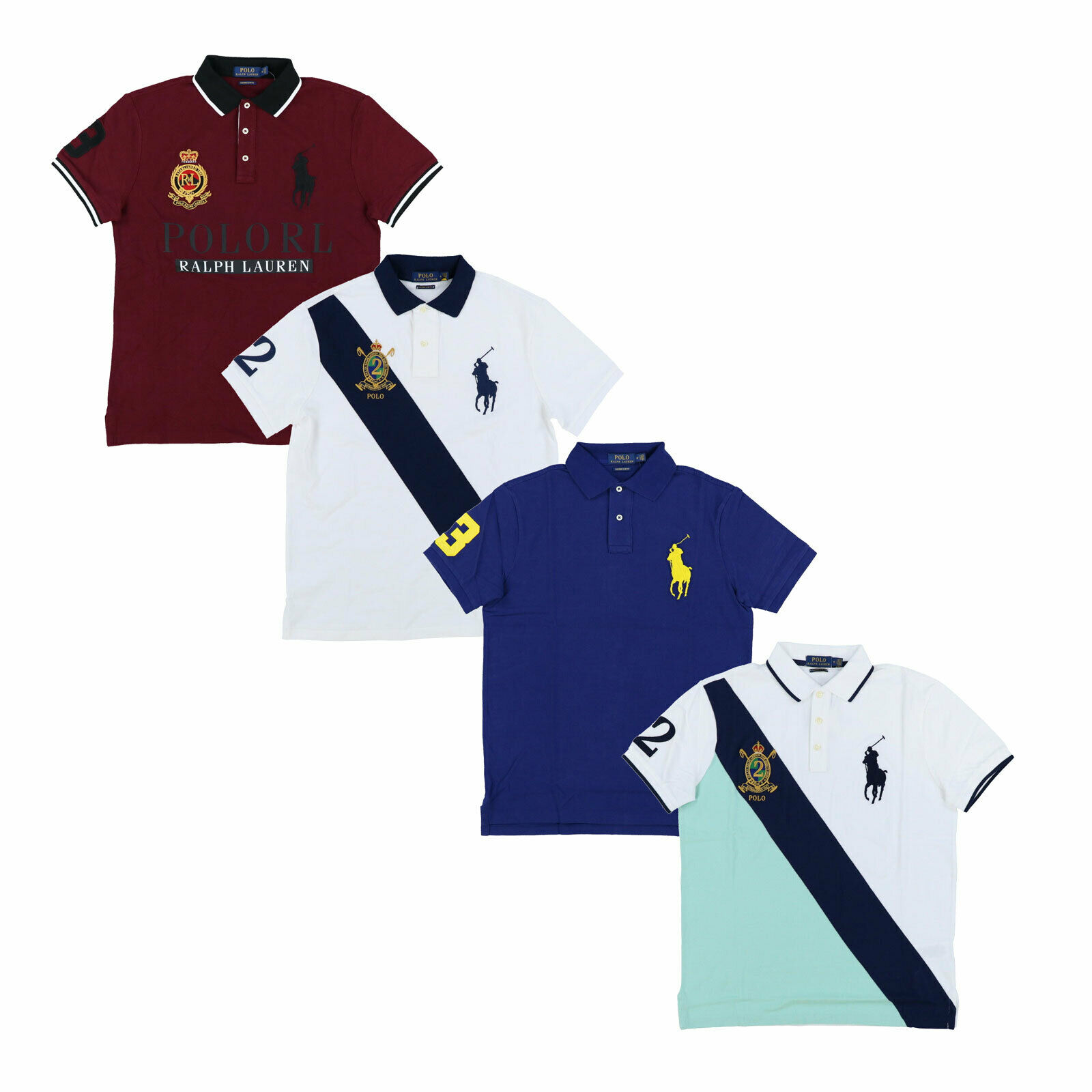 4a44d1f4cf Polo Ralph Lauren Big Pony Custom Slim Fit Polo Shirt Mesh Knit Xs S M L Xl  Xxl