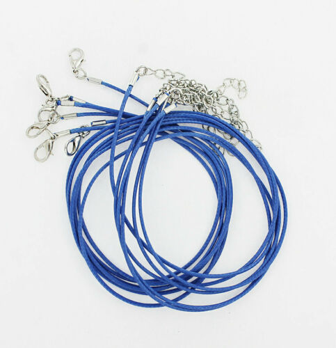"""5 Nylon Cord Necklaces 18/"""" Dark Blue with Alloy Lobster Clasps N203"""