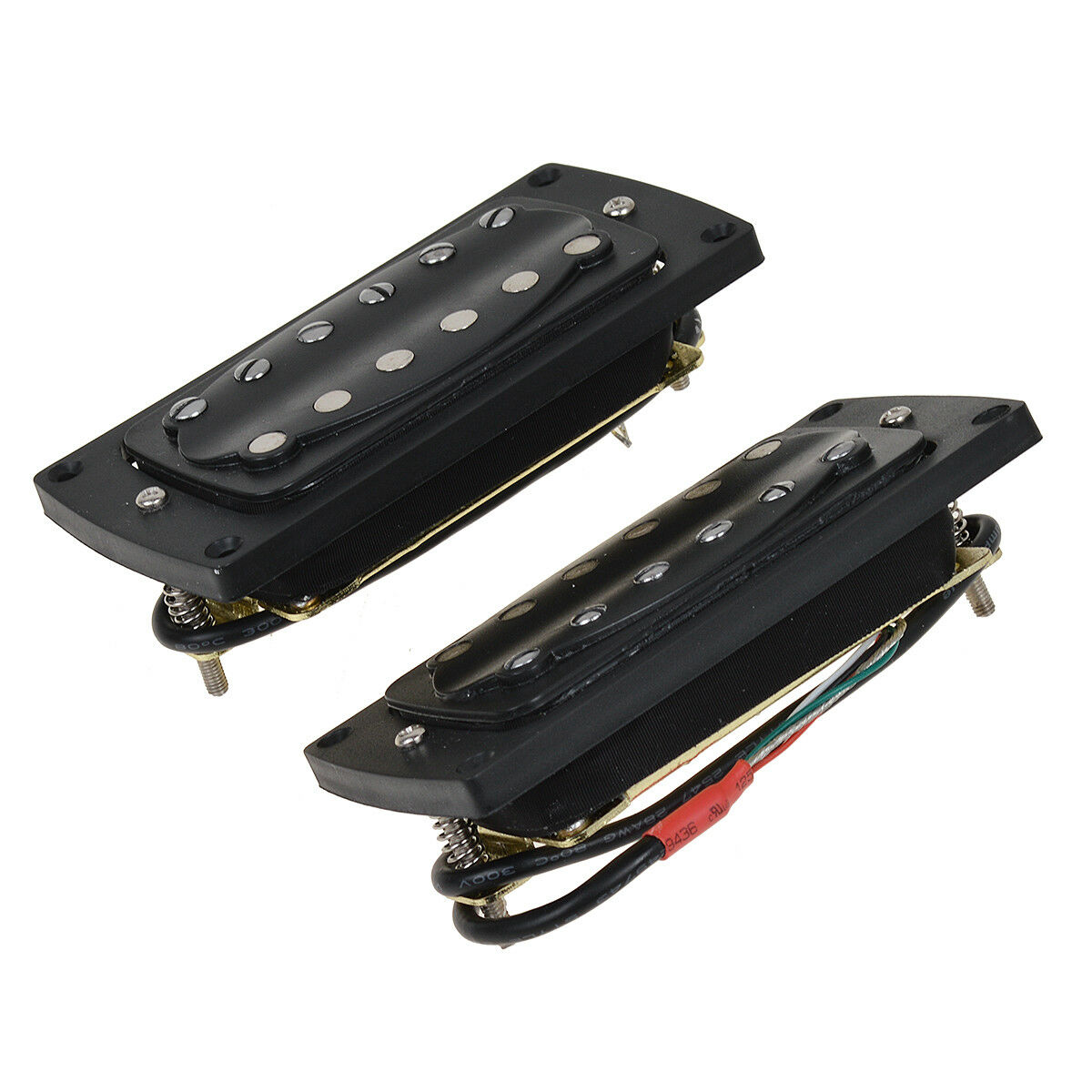 humbucker double coil bridge and neck pickup set for electric guitar parts black 634458667234 ebay. Black Bedroom Furniture Sets. Home Design Ideas
