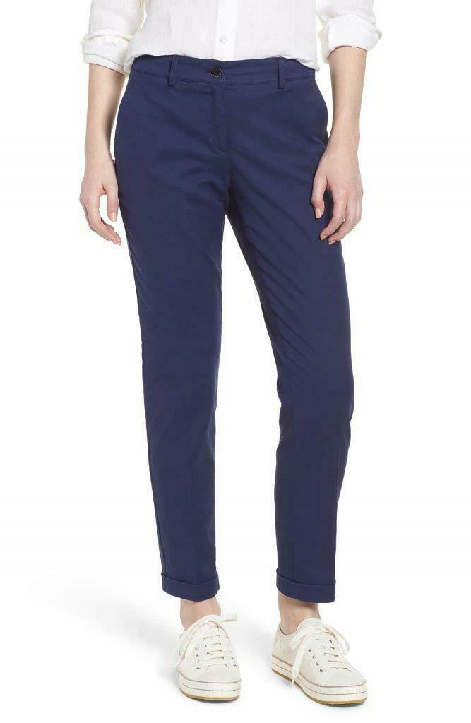 BRAND NEW   BRAX  188  MARON  CUFFED COTTON PIQUE CASUAL TROUSERS NAVY SIZE 32