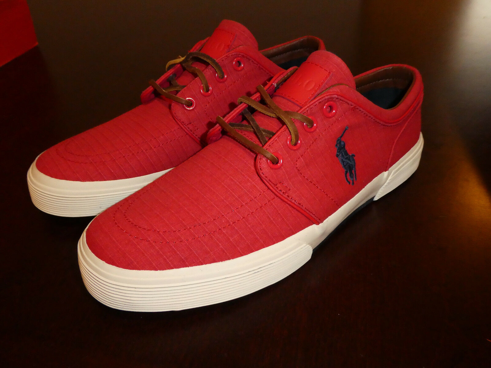 Polo Ralph Lauren Faxon Low SK VLC mens schuhe boat new  rot rip stop