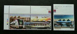 SJ-Express-Rail-Link-Malaysia-2002-Train-Locomotive-stamp-color-MNH