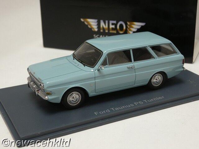 FORD P6 12M Turnier Light blueee 1966 NEO MODELS 1 43  44340