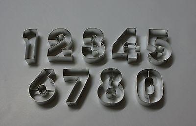Ausstechformen Backformen Plätzchen 10 Zahlen von 0 bis 10