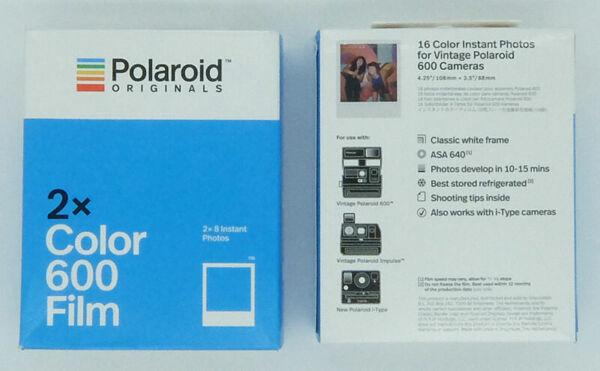 100% De Qualité Polaroid Color 600 Film Lot De 2 Pack De 2 Films (soit 4 Films De 8 Vues) Produits De Qualité Selon La Qualité