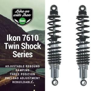 Ikon 7610 Chrome/Black Motorcycle Koni Shock Absorbers Triumph Rocket III 03-14