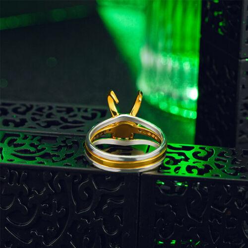 Thor Loki 925 Siver plaqué or 3PCS//Set Anneau hommes Bijoux Femmes Bracelet Cadeaux