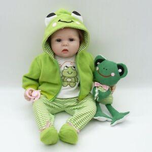55cm réaliste bébé nouveau-né poupée jouets doux silicone vinyle Dollpu #