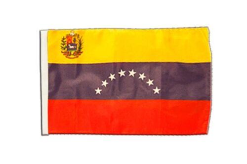 Venezuela 8 Sterne mit Wappen Banner neue venezolanische Fahnen Flaggen 30x45cm