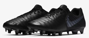NIKE TIEMPO LEGEND 7 VII ELITE FG TRIPLE BLACK AH7238 001 US MENS SZ 8.5 RARE