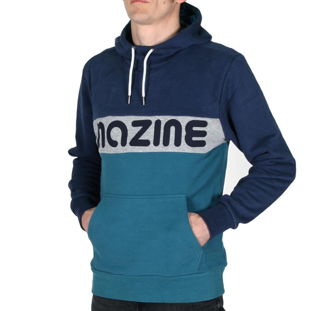 Mazine Kamas Heavy Hoody Navy Deep Sea Herren Kapuzenpullover Hoodie Blau