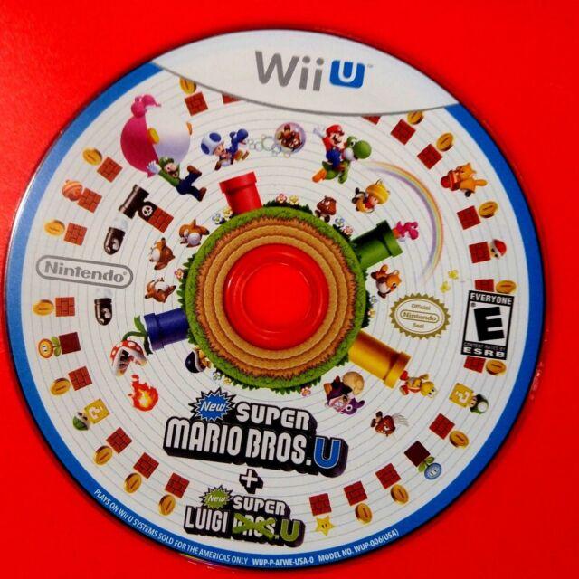 New Super Mario Bros. U + New Super Luigi U (Wii U, 2015) Disc Only # 14103