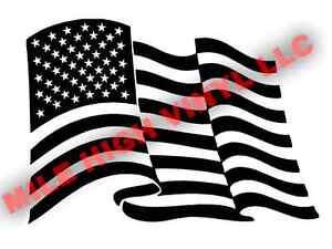 PICK-SIZE-Waving-US-Flag-Stencil-Vinyl-Cerakote-Paint-Airbrush-USA