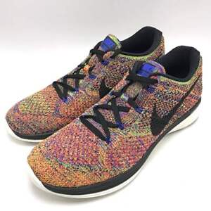 61060613f300 Nike Men Flyknit Lunar3 Running Shoe Racer Blue Black Crimson-Volt ...