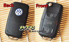 UNCUT VW VOLKSWAGEN FLIP KEY REMOTE FOB SHELL CASE FOR GOLF PASSAT Jetta Beetle