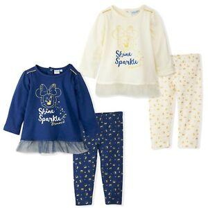 Disney-Minnie-Maus-Baby-Maedchen-Outfit-Kleidung-Satz-Party-Top-Leggings-9-36
