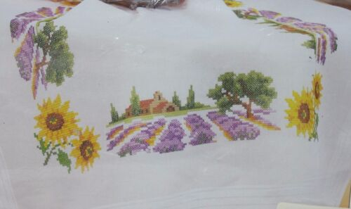 "Vervaco Verachtert Vineyard Image Cross Stitch Tablecloth Kit 153 32"" X 32"""