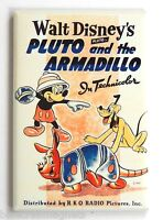 Pluto & the Armadillo FRIDGE MAGNET (2 x 3 inches) movie poster mickey mouse