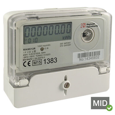 Emlite ECA2 100a Single Phase KWH Electric Meter with Extended Cover /& FREE SEAL