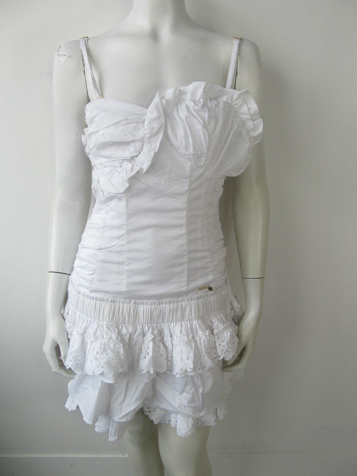 Fracomina KLEED robe Robe jurk Blanc f11ss234 NEUF L