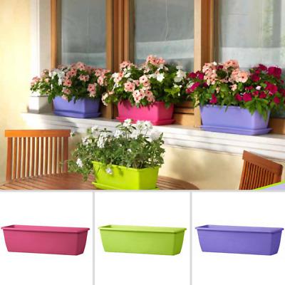 CASSETTA per fiori con riserva d/'acqua 60cm Bianco cassetta da balcone fioriera piante