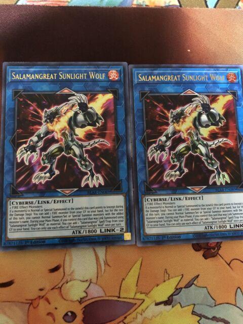 YuGiOh 1st Edition Salamangreat Sunlight Wolf Ultra Rare BLAR-EN089