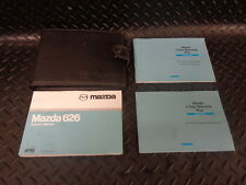 2002 MAZDA 626 2.0 TD GXI SE 5DR OWNERS MANUAL/HANDBOOK WITH COVER