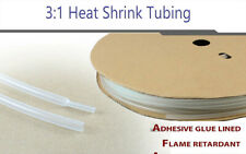 20ft14diameter 31 Polyolefin Heat Shrink Tubing Clear Adhesive Glue Lined