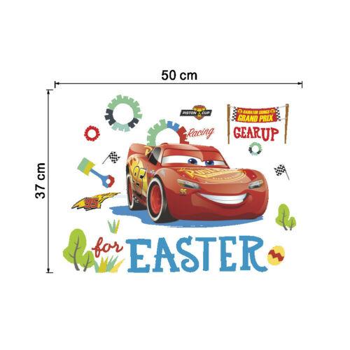 Disney 3D Car  McQueen bedside background Wall Sticker Kids Room Removable Decor