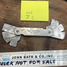 Starrett No 272 A Radius Gage Pre Owned Nice Old Piece Lot 71