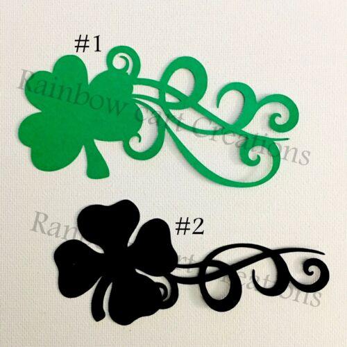 Swirl Shamrock Clover Die Cut Embellishment Cutout Scrapbooking Card Topper
