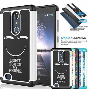 best cheap ba03e 43df0 Details about For ZTE Zmax Pro / Z981 Armor Shockproof Hybrid Impact Rubber  Hard Case Cover