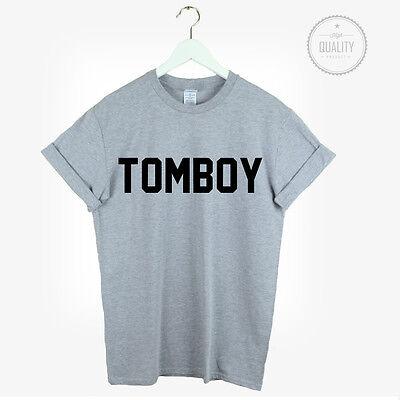TOMBOY T SHIRT URBAN HIPSTER LOVE CUTE COOL FASHION UNISEX BLOGGER TUMBLR tomboy