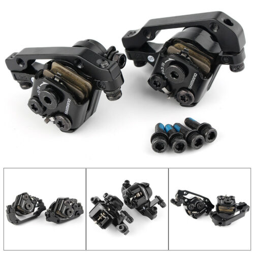 BR-M375 Mechanical Disc Bicycle Brake Caliper Set Front+Rear Black Pair
