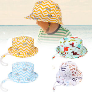 New-Girls-Kids-Baby-Summer-Toddler-Outdoor-Floral-Bucket-Hat-Canvas-Sun-Cap