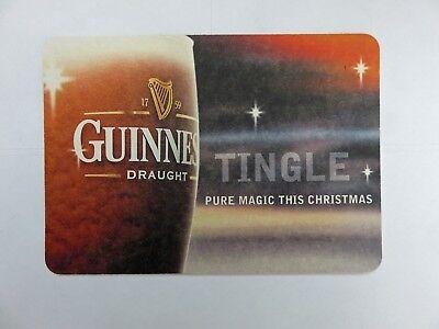 Guinness /' Pure Magic This Christmas/' Beer Mat Coaster Sous Bock Bierdeckel