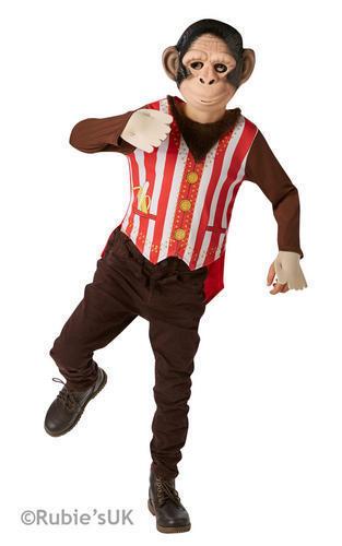 Curious George Monkey Fancy Dress Boys Circus World Book Day Kids Animal Costume