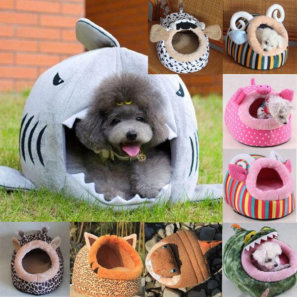 Cute Soft Fleece Warm Washable Cushion Mat Dog Puppy Cat Pet Basket Bed House