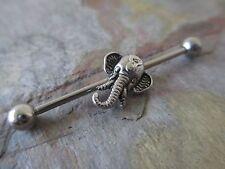 Ganesha Elephant Scaffold Industrial Barbell Cartilage Piercing Tragus Yoga