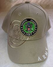 US ARMY Khaki Tan Ball Cap Infantry Armor Cavalry Airborne Engineer Aviation Hat