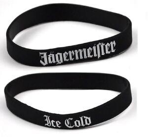 2 x Jägermeister USA Ice Cold Silikon Armbänder Freundschaftsbänder Armband