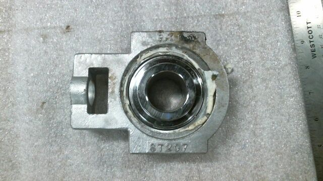 PTI  ST207 1-1 4  SS Take-up bearing housing with Bearing Insert - used