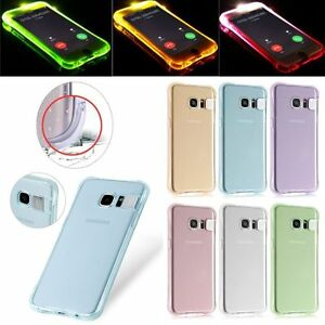 LED-Flash-Soft-TPU-Silicone-Back-Case-Cover-Skin-Incoming-Call-For-Samsung-S6-S7