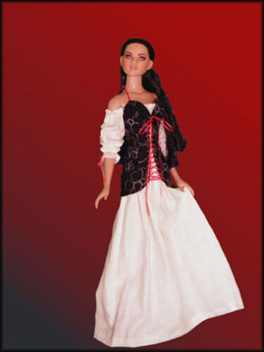 Pirate Maiden Doll Clothes Sewing Pattern American Model Tonner