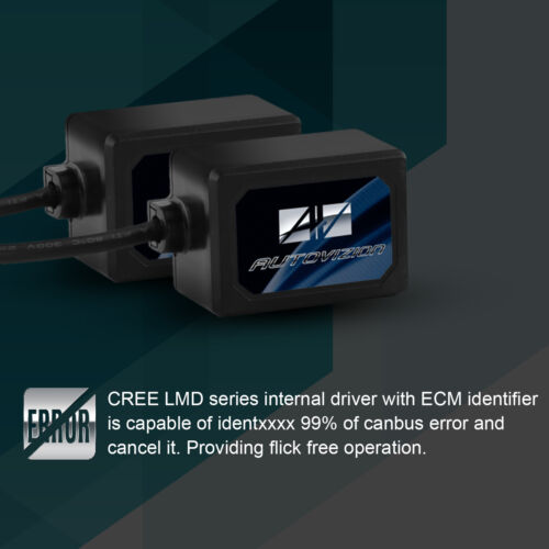New LED Cree Kit Headlight Hi//Lo H4 HB2 9003 6000K 60W 6000LM Whilte Bulbs Pair