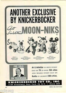 1960 advert 3 pg knickerbocker toy quick draw moon dog berbro go Carto Half Moon image is loading 1960 advert 3 pg knickerbocker toy quick draw