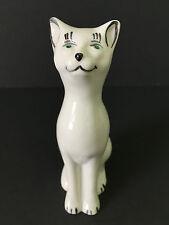 Belleek Ireland Cat Kitten w/Green Eyes Figurine - Blue Mark