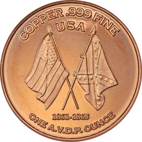 Battle of Gettysburg    1oz .999 copper round Civil War Series